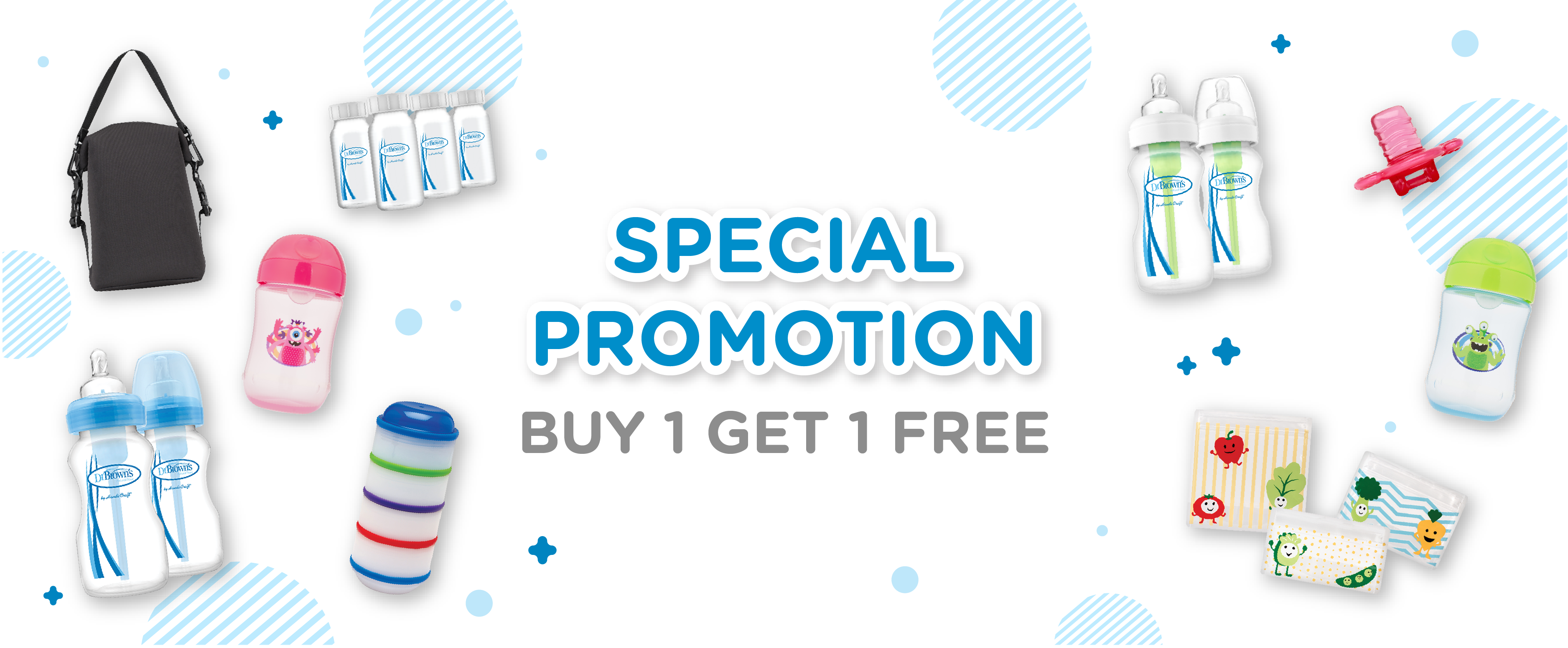 Dr. Brown's Buy 1 Get 1 Promotion